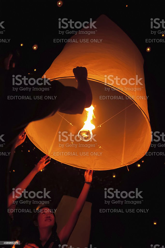 Loi Krathong Festival royalty-free stock photo
