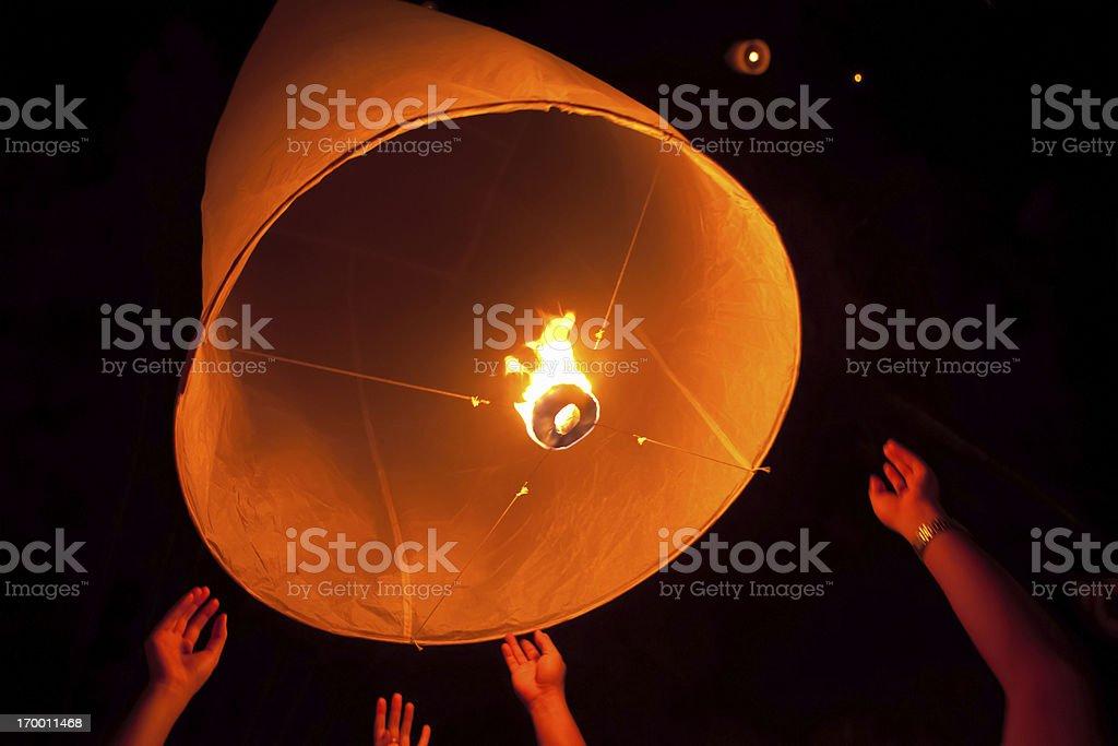Loi Krathong Lantern royalty-free stock photo