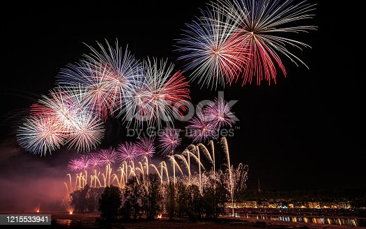 Fireworks on the edges of the Loire for the Festival de Loire 2017, Orléans