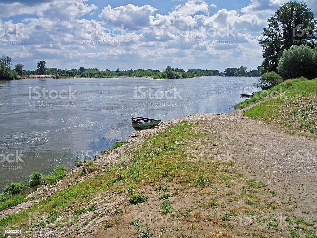 Loire in Langeais royalty-free stock photo
