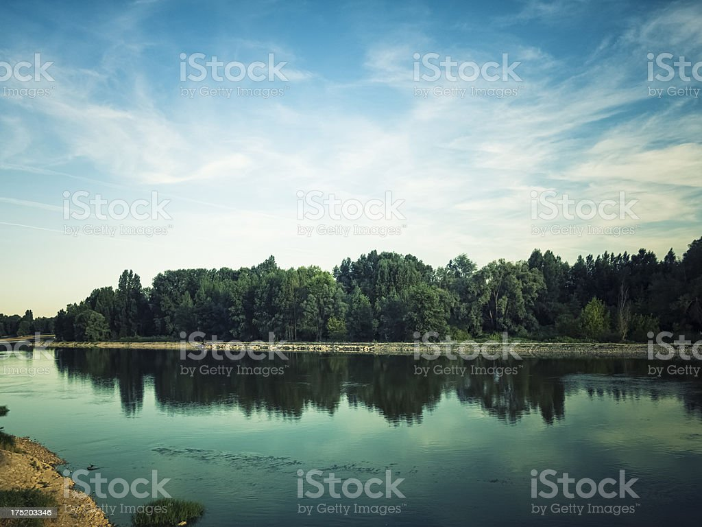 Loire river, France stock photo