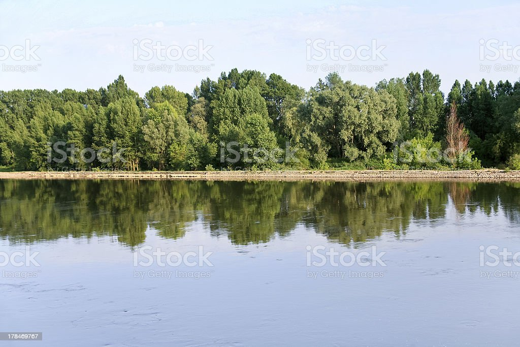 Loire river near Orleans city, France stock photo