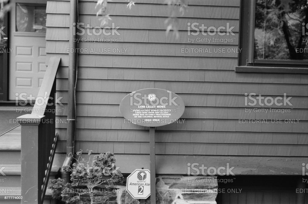 Lois Lilley Howe House, Cambridge, MA. #1 stock photo