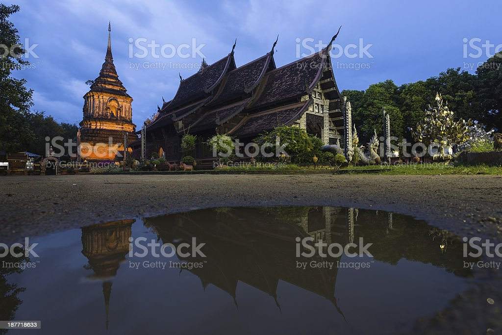 Lok Moree Temple located in Chiang Mai , Thailand royalty-free stock photo