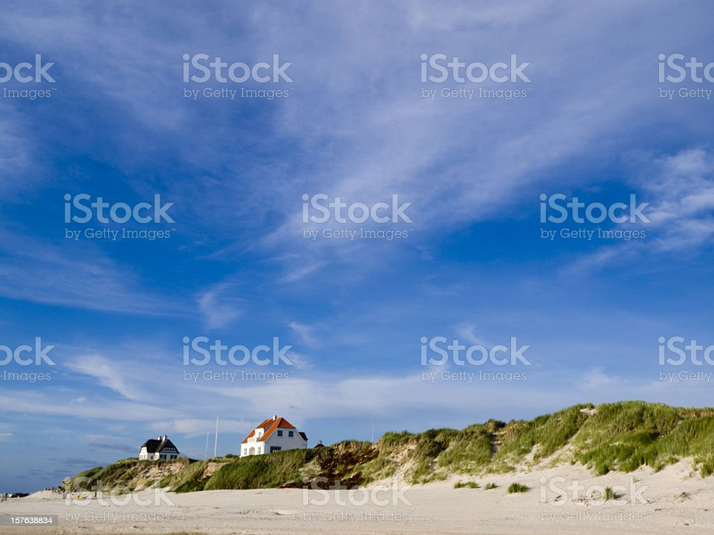 Lokken beach stock photo