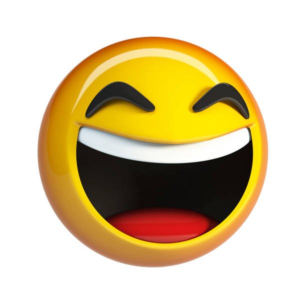 lol emoji. laughing face emoticon. - emoji foto e immagini stock