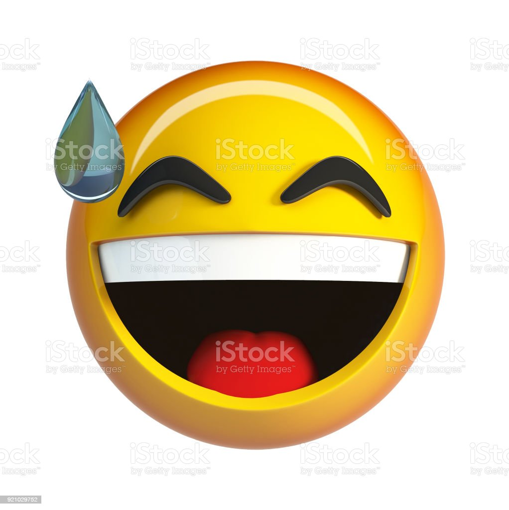 Laughing Face With Tears Of Joy Emoticon Royalty Free Stock Photo