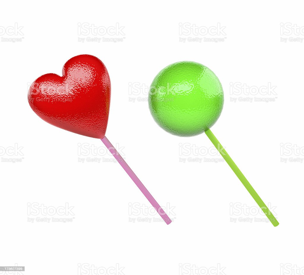 Lollipops isolated royalty-free stock photo