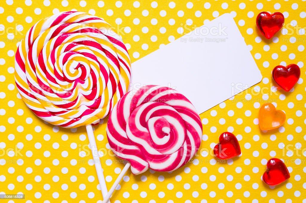 Lollipops stock photo