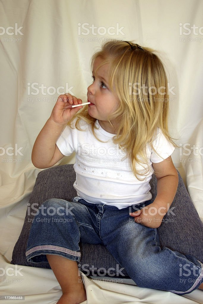 Lollypop kid royalty-free stock photo