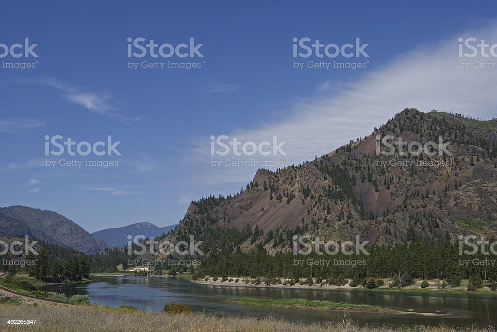Lolo NF River stock photo