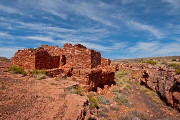 Lomaki Pueblo stock photo