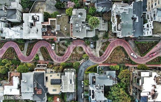 A windy look at Lombard Street, San Francisco's windiest street