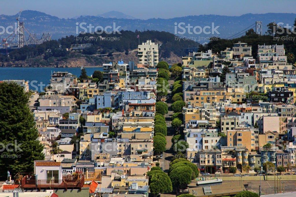 Lombard Street in San Francisco, California stock photo