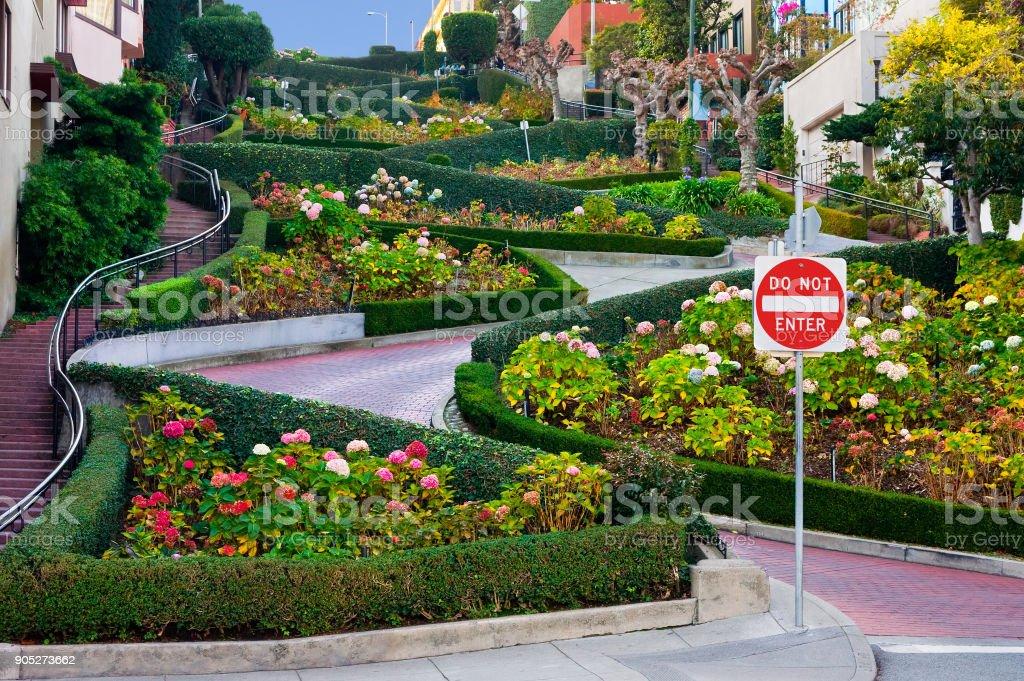 Lombard Street in San Francisco stock photo