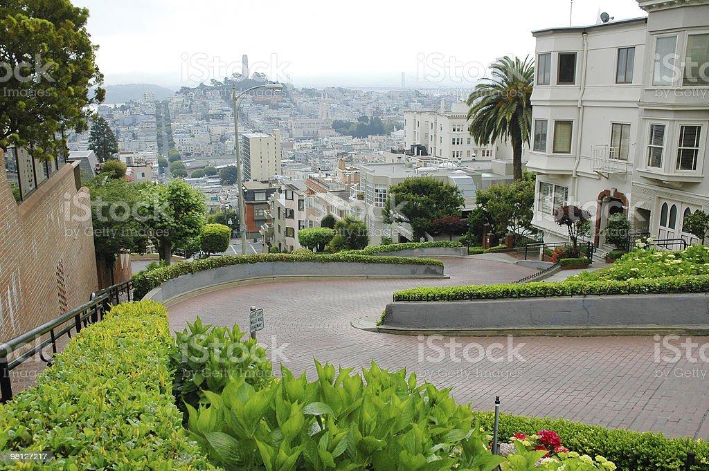 Lombard Street San Francisco royalty-free 스톡 사진