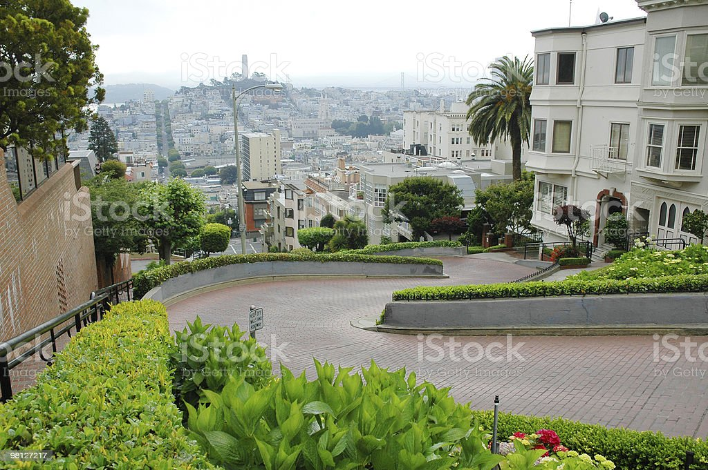 Lombard Street in San Francisco stock photo