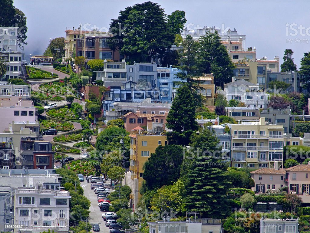 Lombard Street royalty-free stock photo