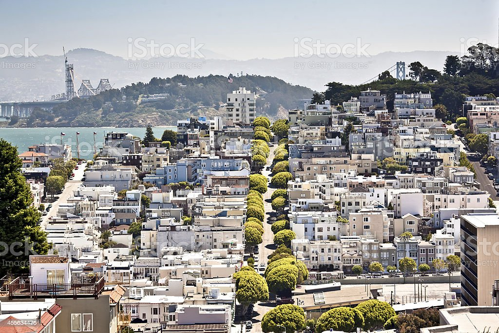 Lombard Street, San Francisco royalty-free stock photo