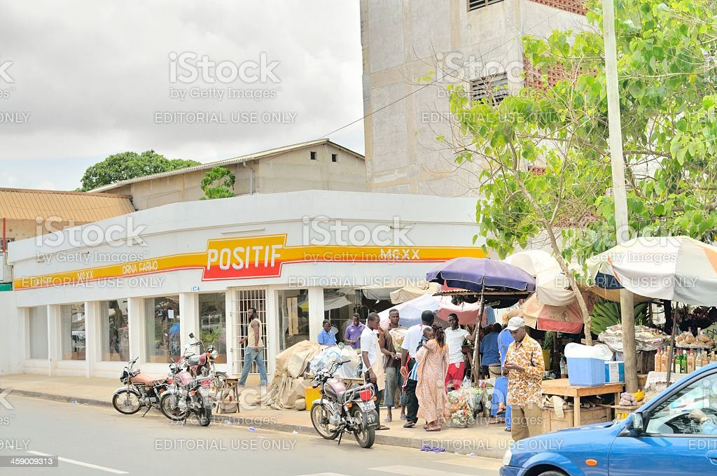 Lome Street Scene royalty-free stock photo