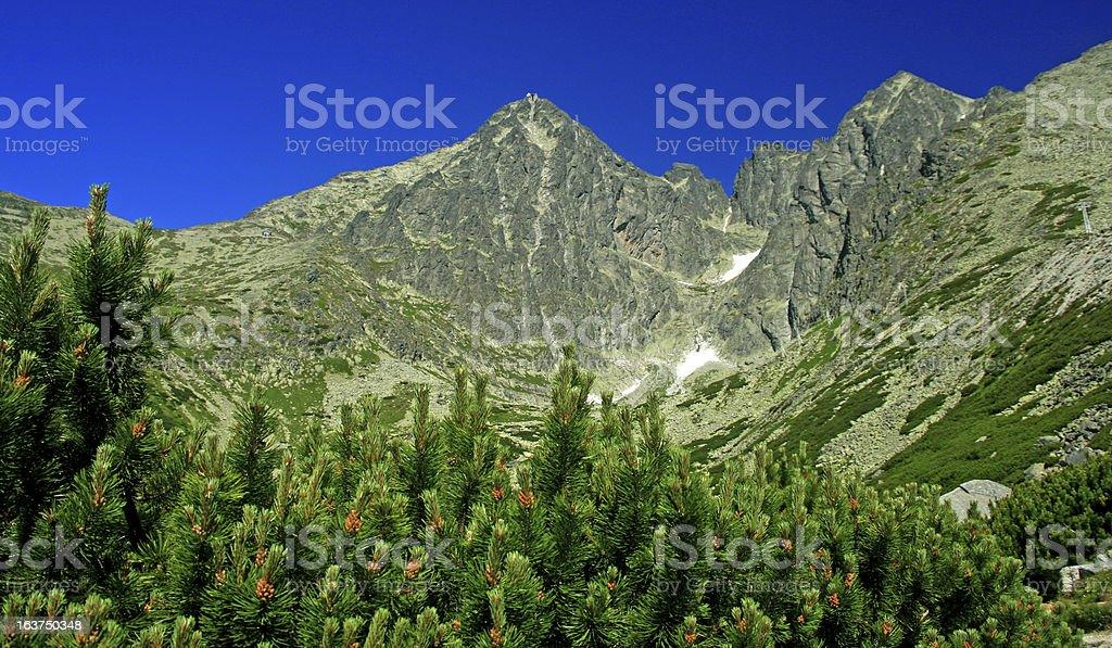 Lomnicky stit - peak in High Tatras royalty-free stock photo