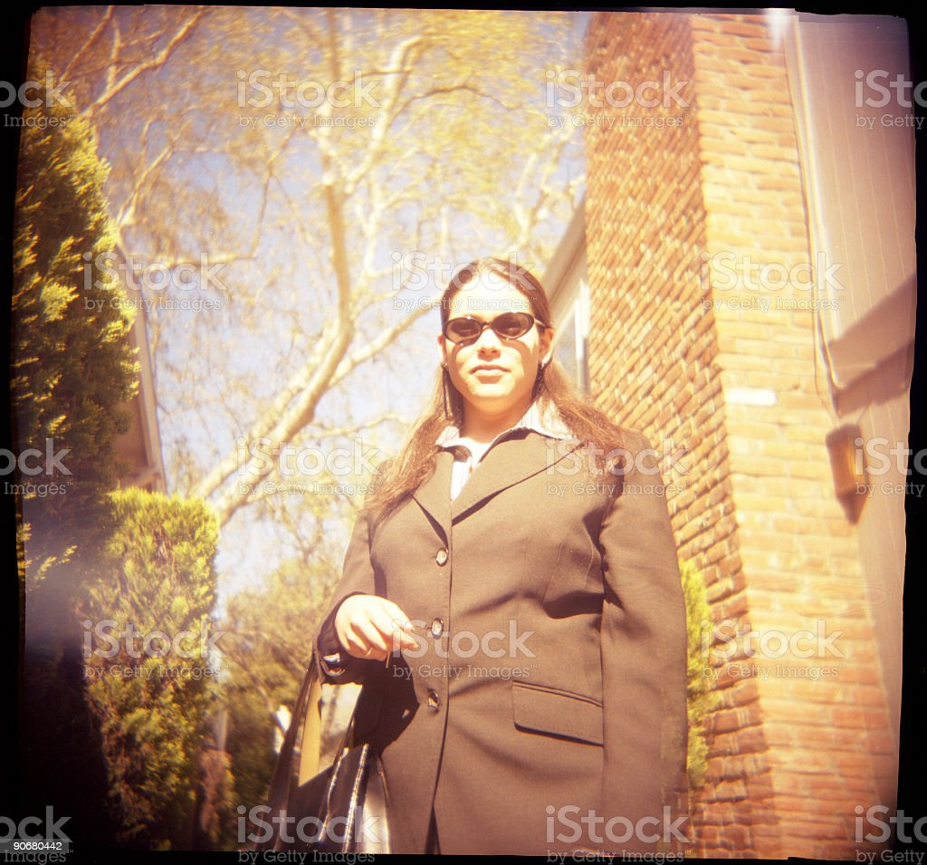 Lomo Business Woman stock photo