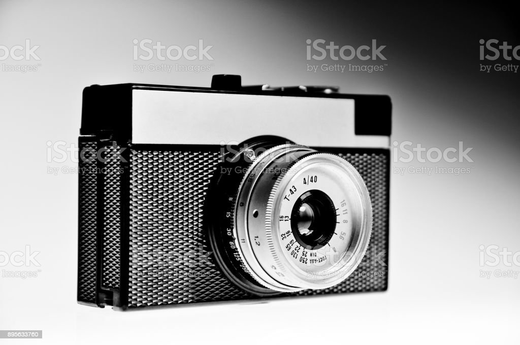 Lomo camera black and white stock photo