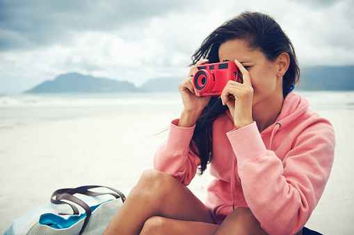 lomo camera woman