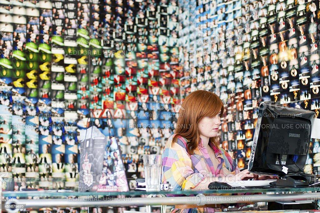 Lomography store in Spitalfields Market royalty-free stock photo
