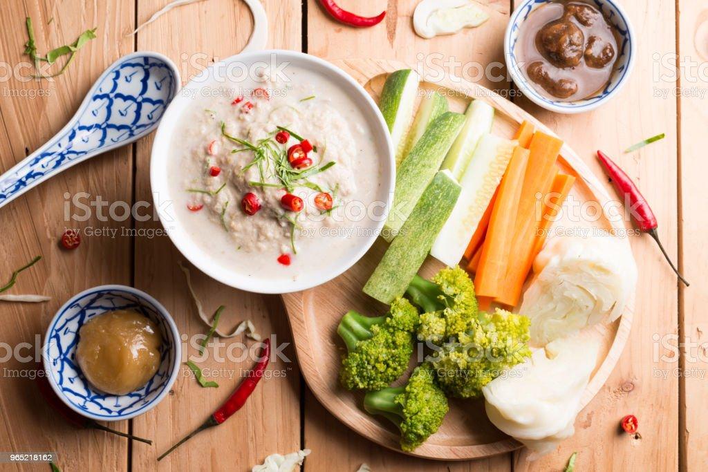 Lon Taochiao : soya bean dipping sauce and Vegetable zbiór zdjęć royalty-free