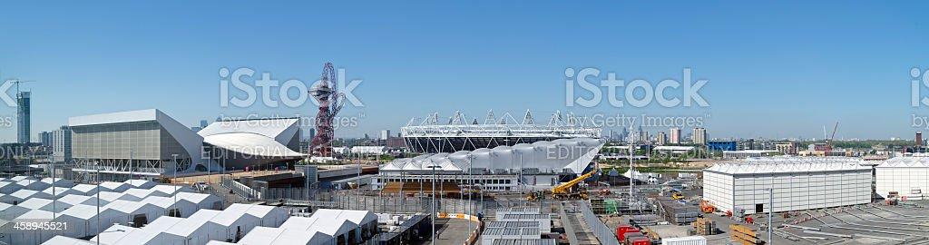 London 2012 Olympic Park panorama stock photo