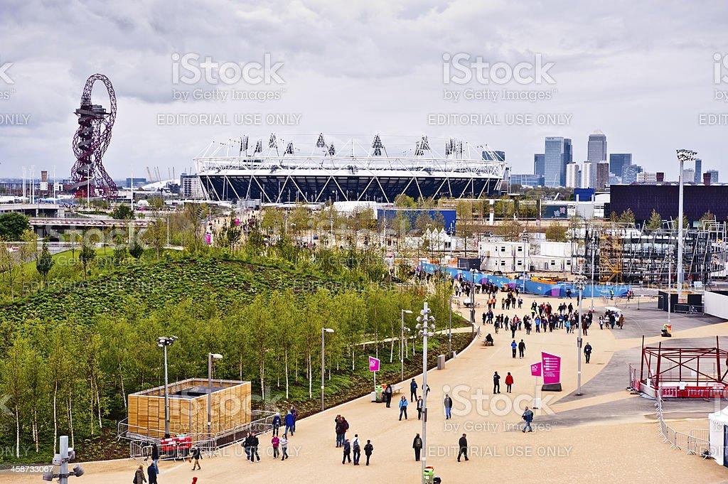 London 2012 Olympic park royalty-free stock photo