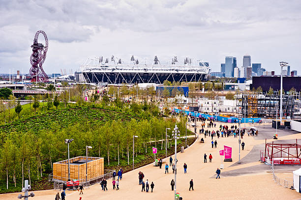 """London 2012 Olympic park """"London, UK - May 6, 2012: Olympic park during the London prepares series. The London Prepares series is the official London 2012 sports testing programme."""" 2012 stock pictures, royalty-free photos & images"""