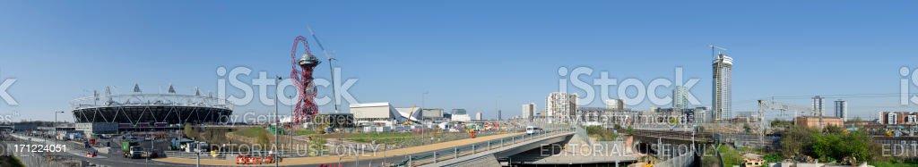 London 2012 Olympic Park urban regeneration panorama stock photo