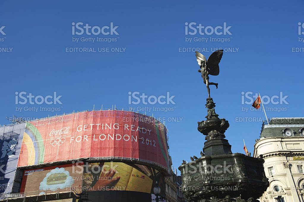 London 2012 Olympics Advertising Piccadilly Circus stock photo