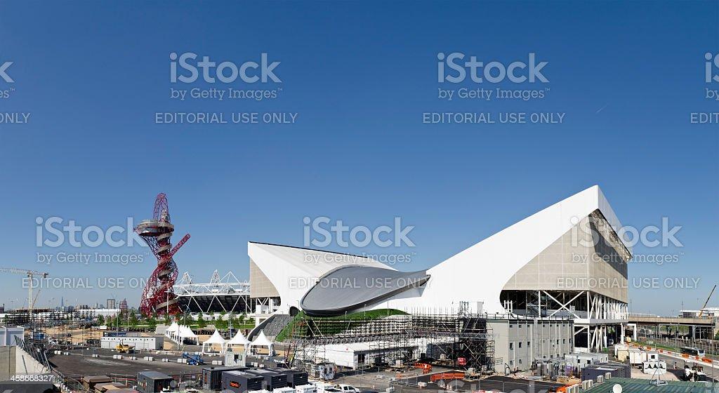 London 2012 Olympics Aquatic Centre stock photo
