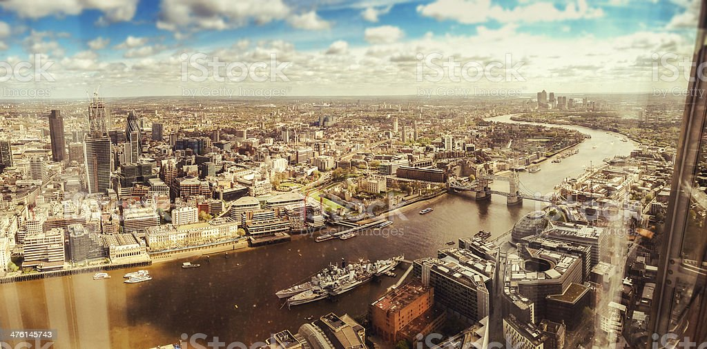 London aerial view royalty-free stock photo