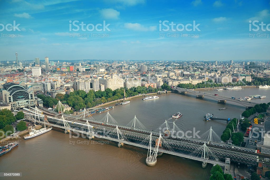 London Aerial View stock photo