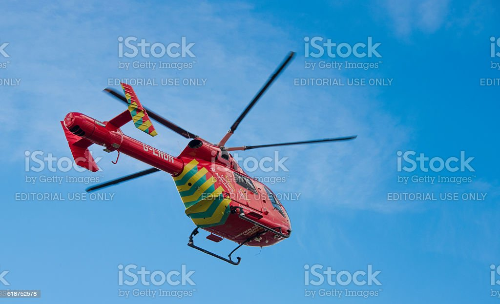 London Air Ambulance takes off stock photo