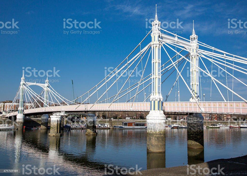 London - Albert Bridge royalty-free stock photo