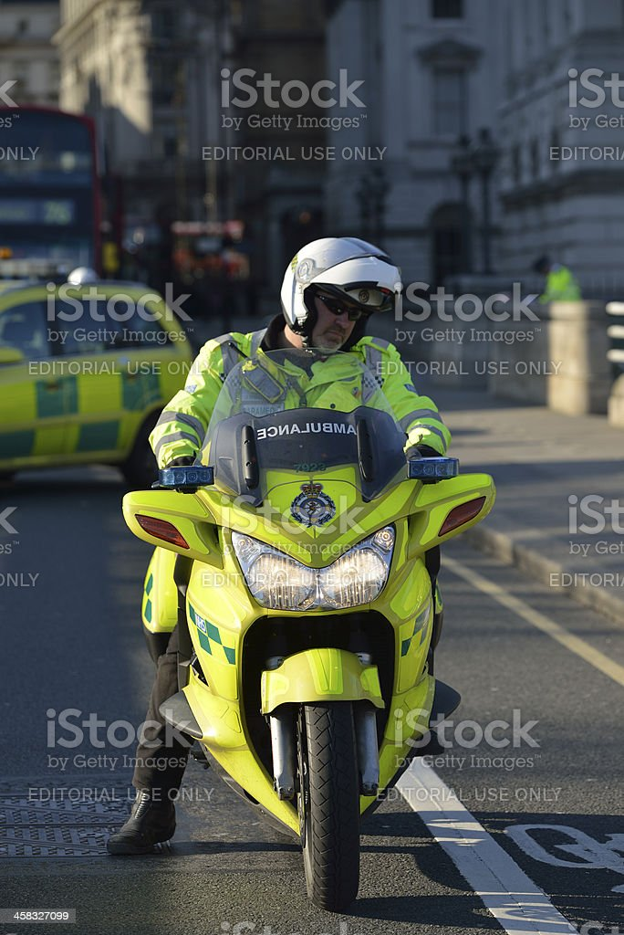 London Ambulance Paramedic stock photo