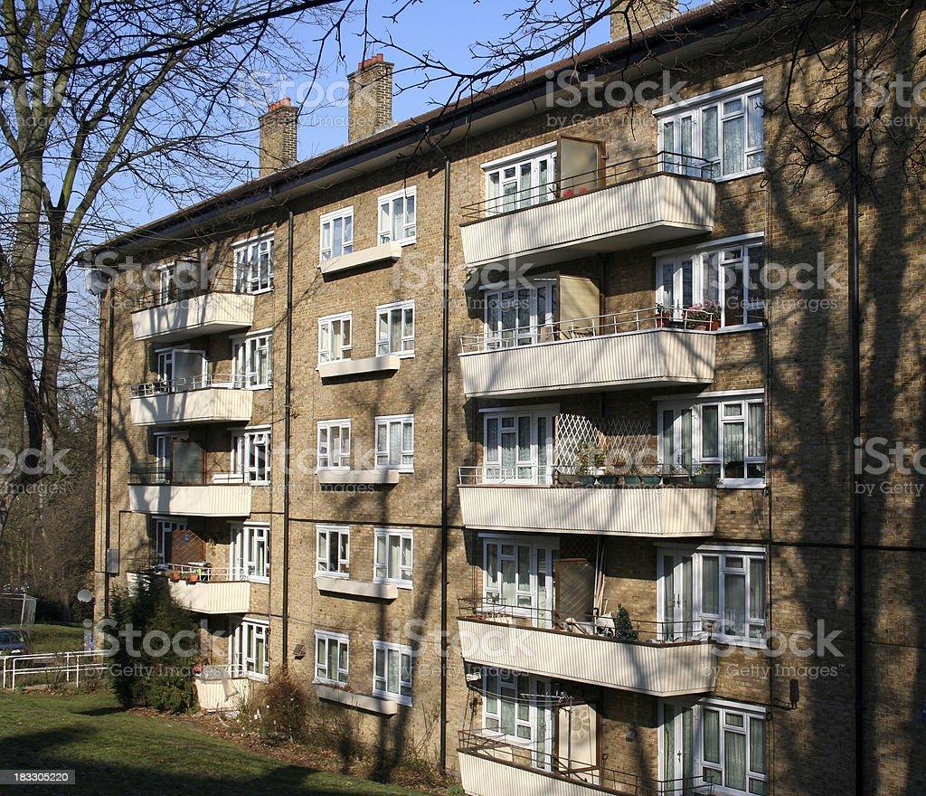 London Apartment Block royalty-free stock photo