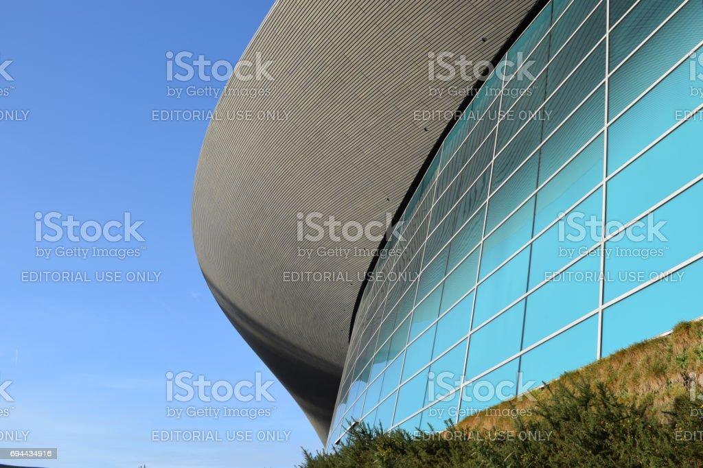 London Aquatics Centre stock photo