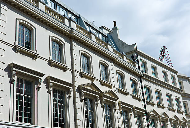 London Architecture: Mayfair Classic Fassade in Sunny Afternoon London Architecture: Mayfair Classic Fassade in Sunny AfternoonRELEVANT LIGHTBOXES LONDON + NYC mayfair stock pictures, royalty-free photos & images