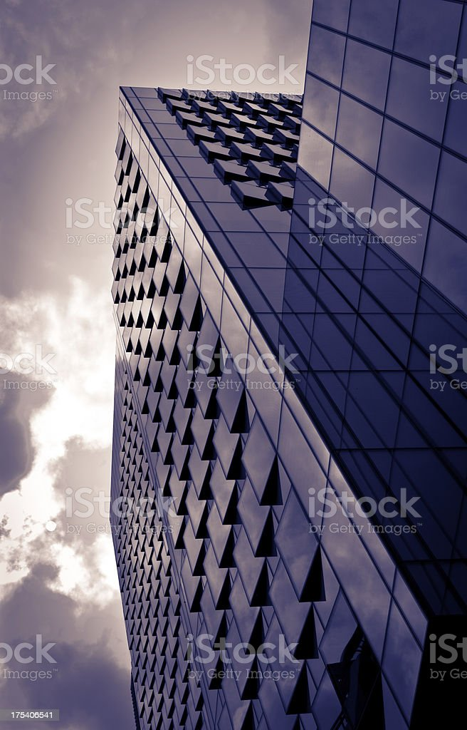 london architecture: modern office buildings royalty-free stock photo