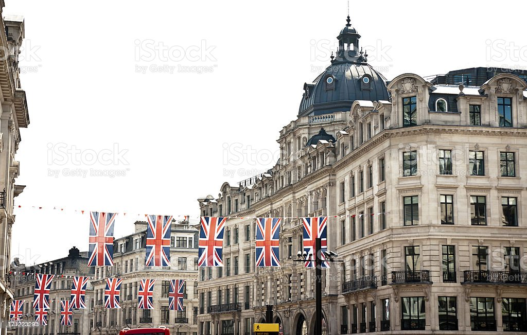 london architecture: preparation for the queen's diamond jubilee stock photo