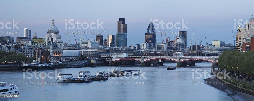 London at dusk royalty-free stock photo