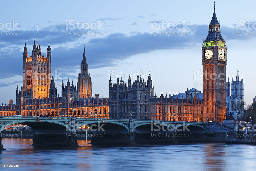 London at dusk royalty-free stock photo