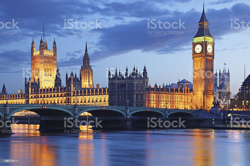 London at night royalty-free stock photo
