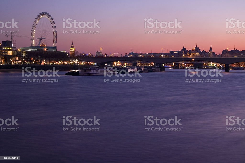 London at sunset stock photo
